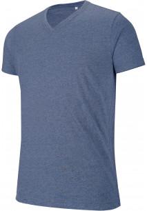 Men's V-neck short-sleeved melange T-shirt