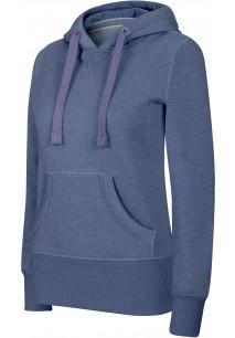 Ladies' melange hooded sweatshirt