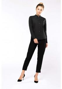 Ladies' long-sleeved mandarin collar shirt