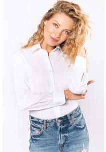 Ladies' long-sleeved stretch shirt