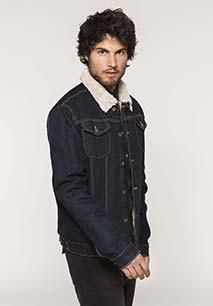 Men's sherpa-lined denim jacket