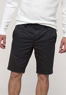 Men's washed effect bermuda shorts
