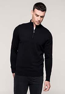 Men's zip neck jumper
