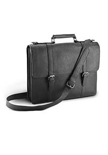 Business bag with detachable laptop compartment