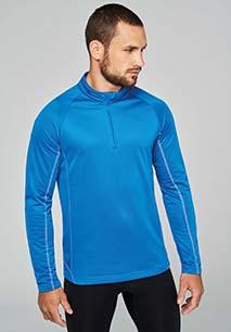 Men's zip neck running sweatshirt