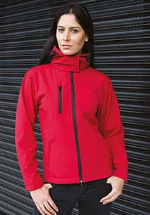Womens TX Performance Hooded Soft Shell Jacket
