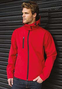 Mens TX Performance Hooded Soft Shell Jacket
