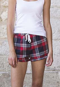 Ladies' tartan frill shorts