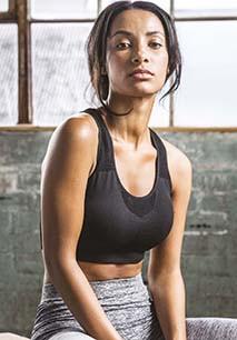 Seamless sports bra