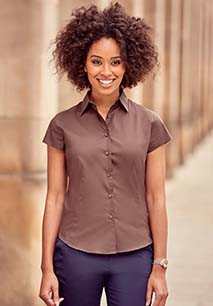 Ladies' Short-Sleeved Fitted Shirt