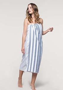 Striped fringed fouta
