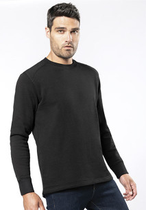 Set-in sleeve sweatshirt