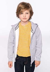 Kids' full zip hooded sweatshirt