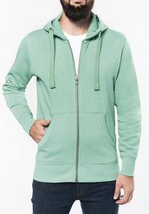 Men's melange full zip hooded sweatshirt