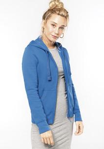 Ladies' full zip hooded sweatshirt