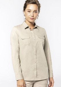 Ladies' long sleeved safari shirt