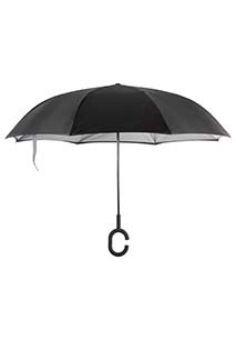 Hands-free reverse open umbrella