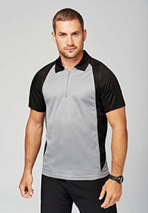Short-sleeveD two-tone polo shirt