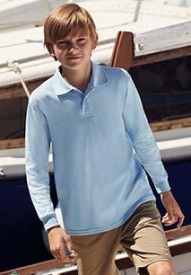 65/35 Kids' long-sleeved polo shirt