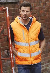 Hi-Vis Kensington hoodied gilet