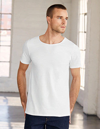 Men's raw neck T-shirt