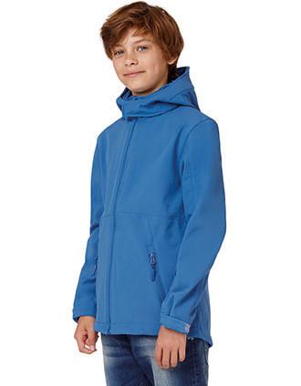 Kids' hooded softshell jacket