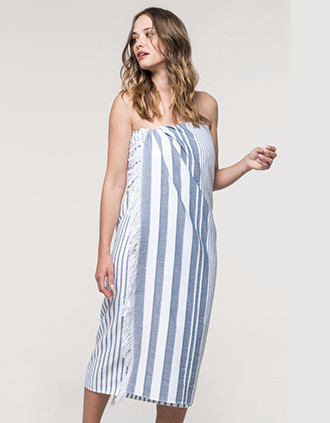 Striped fringed fouta