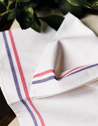 "2-stripe tea towel - ""Origine France Garantie"""