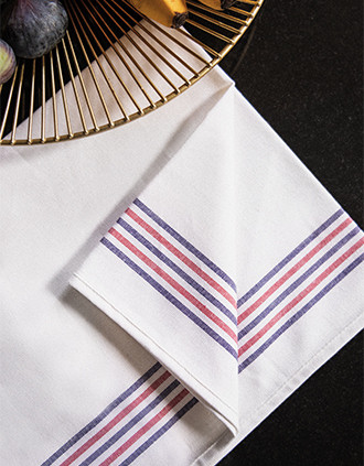 "Striped tea towel - ""Origine France Garantie"""