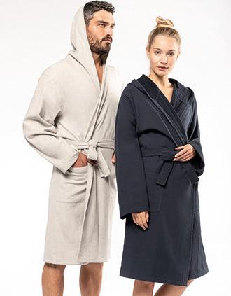 Organic hooded bathrobe