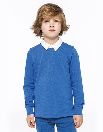 Kids' rugby polo shirt
