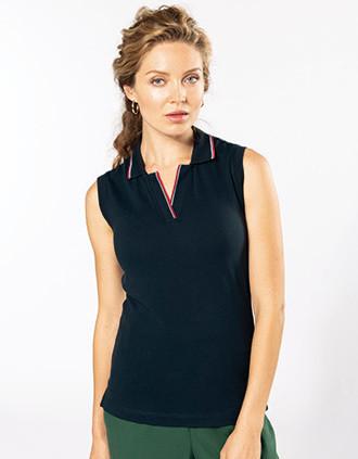Ladies' sleeveless polo shirt