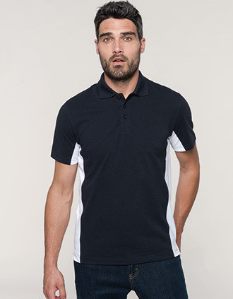 Flag > Short-sleeved two-tone polo shirt