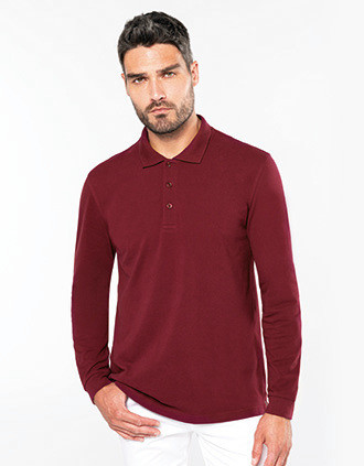 Men's long-sleeved polo shirt