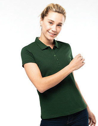 Ladies' short-sleeved piqué polo shirt