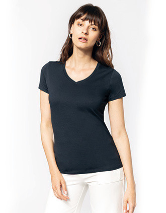 Ladies' Supima® V-neck short sleeve t-shirt