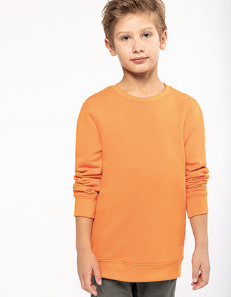 Kids' eco-friendly crew neck sweatshirt