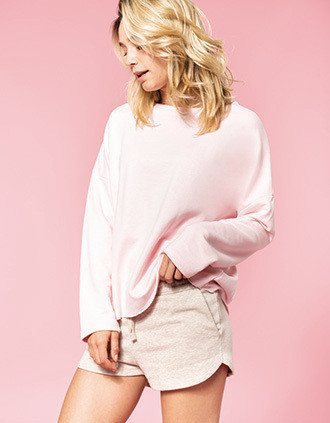 Ladies' oversized sweatshirt