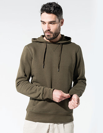 Men's organic hooded sweatshirt