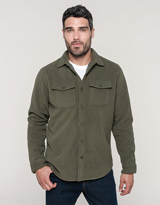 Sherpa-lined fleece overshirt