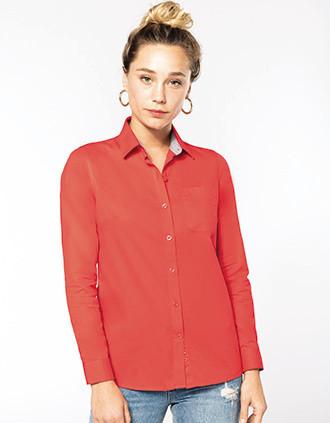 Ladies' Nevada long sleeve cotton shirt