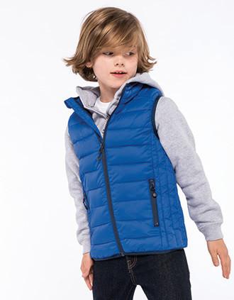 KIDS' LIGHTWEIGHT SLEEVELESS PADDED jacket