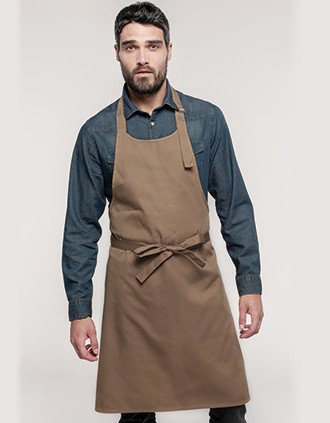 Polycotton apron without pocket