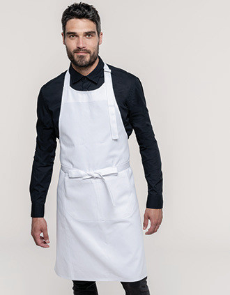 Cotton apron high-temperature washable