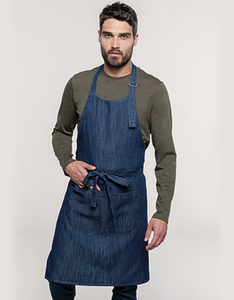 Polyester cotton apron with pocket