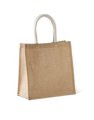 Jute canvas tote - large