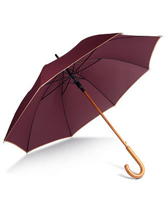 Auto open wooden umbrella