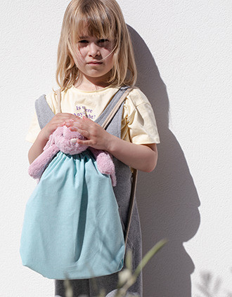 Small recycled backpack with drawstring - Kid size