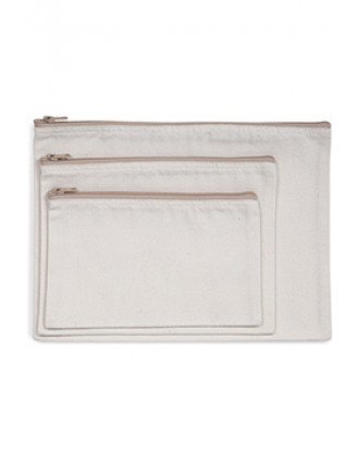 Recycled zipped pouch