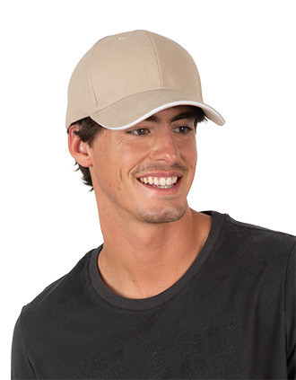 Cap in organic cotton with contrasting sandwich peak - 6panels
